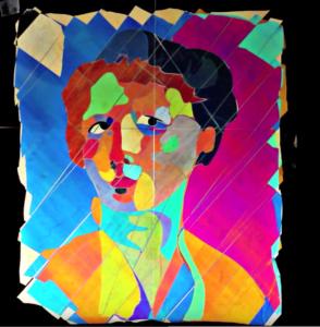 portrait derain en art polarisé
