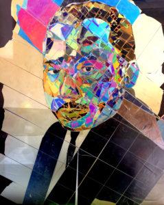 portrait de martin luther king en art polarisé