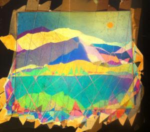 paysage art polarise avec scotch