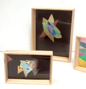 cadre vitrine en art polarisé